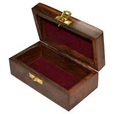 amazon handmade jewellery box rectangular shape wood carving with fl br inlay design kitchen dining