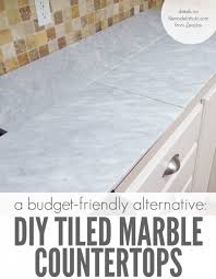 self installed tile marble countertops are a er alternative to slab marble counters