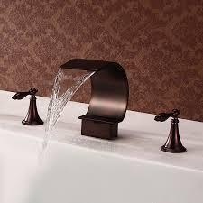 rustic waterfall bathroom faucet
