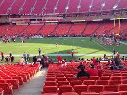 Arrowhead Stadium Section 134 Row 21 Seat 2 Kansas City