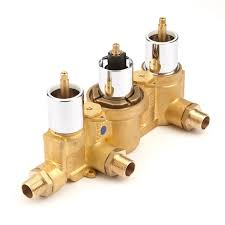 traditional thermostatic triple shower valve with diverter 3