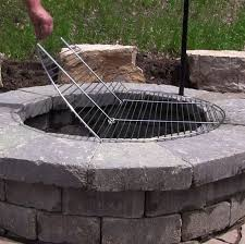 use the sunnydaze foldable chrome plated cooking grate to instantly convert your fire pit into a barbecue for tasty meals