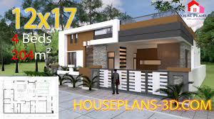 4 Storey House Design With Rooftop House Design 12x17 With 4 Bedrooms Terrace Roof