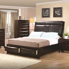 Oak Wood Bedroom Furniture Bedding Modern High Platform Bed With Drawers High End Wooden
