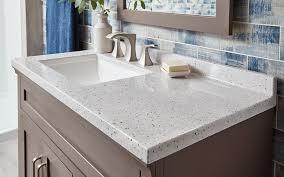 a vanity top in a gray composite material types of bathroom vanities and sinks