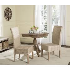 safavieh rural woven dining arjun white washed wicker dining chairs set of 2 today overstock 10857018