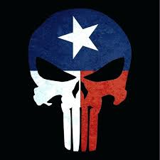 punisher punisher skull texas flag