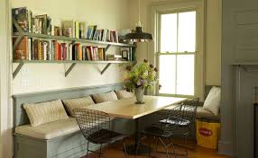 dining table with storage underneath corner reading shelves and table about cozy decorations