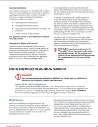 Aacomas Letter Of Recommendation 2019 Aacomas Application Instructions For Entering Class Pdf