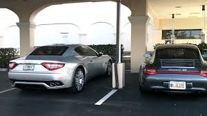 BMW 5 Series bmw m6 vs maserati granturismo : HD] Silver Maserati Granturismo and Porsche 911 (997) Carrera 4s ...