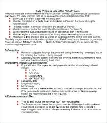 Soap Note Format Sample Progress Note Template 9 Free Documents Download In Word Soap