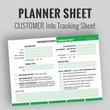 Rodan Fields Preferred Customer Planner Sheet