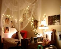 I love when rooms have small lights going across the wall, or above the bed