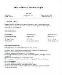 Personal Banker Resume Samples Best Of Personal Resume Example Personal Banker Resume Personal Branding