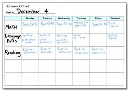 Weekly Homework Assignment Sheet Do2learn Educational Resources For Special Needs