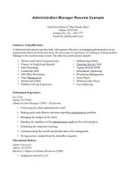 ... Administrative Manager Resume 20 Operations Manager Resume Template  Administration ...