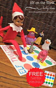 elf on the shelf ideas elf twister printable elf twister printable frugal coupon living elf on
