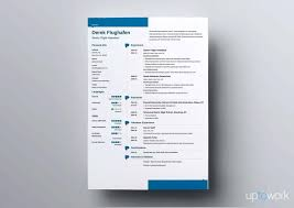 blue modern resume template resume modern resume samples template with blue elements modern