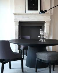 black round dining table dark dining table white chairs black round dining table