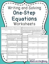 one step equations worksheets including word problems word 276733