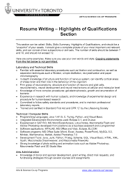 qualifications summary resumes submitting assignments blackboard student support resume format