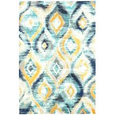 grey blue and yellow area rug
