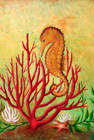c painting best of seahorse and c painting by gabriela valencia