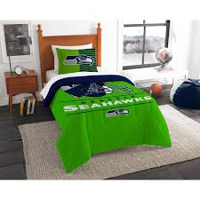 seahawks 2 piece draft multi twin comforter set