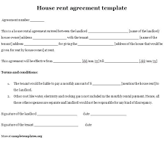 Rental House Agreement Itinerary Template Naveshop Co