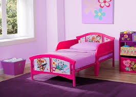 delta children plastic toddler bed nick jr paw patrol skye and everest only 30 shipped
