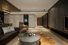 Wood Design For Living Room Stone And Wood Make A Dark Masculine Interior