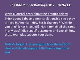 the kite runner bellringer ppt  2 the