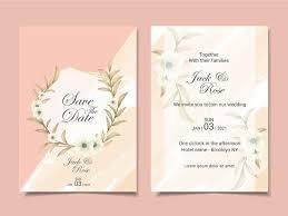 Wedding Invitation Template Elegant Wedding Invitation Template Cards With Beautiful