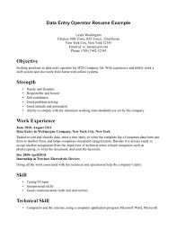 Resume Example For Data Entry Operator Resume Ixiplay Free
