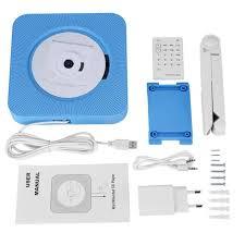 justgogo bluetooth hifi cd player audio wall mount stereo remote control player eu plug