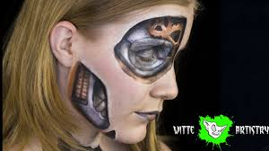 steam punk robot makeup illusion tutorial witte artistry