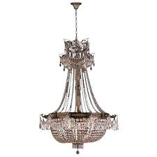 french empire chandeliers french empire basket style collection light antique bronze finish and clear crystal chandelier french empire
