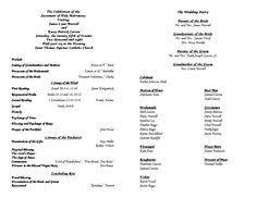 Catholic Wedding Ceremony Program Templates Catholic Wedding Program Under Fontanacountryinn Com
