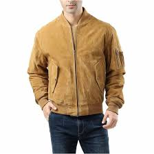 asstd national brand ma 1 suede leather suede er jacket tall