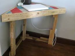 Pallet corner desk is made for the requirement of your house if your house  corners are free you can adjust there some desk or table for different  purposes.