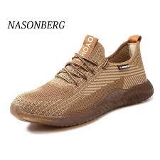 <b>NASONBERG Men'S</b> Steel Toe Work Safety <b>Shoes Casual</b> ...