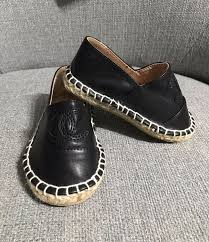 chanel kids shoes. baby espadrilles- black (size 5 infant) chanel kids shoes u