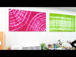 amazing wall art with tulip tie dye