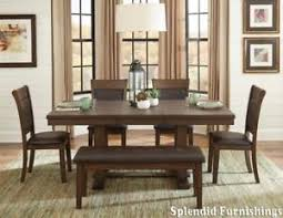 contemporary style light rustic ash finish 6 pc dining set on ptomotion