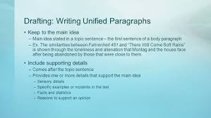 writing effectively pre ap english i adapted from glencoe writer s 3 drafting