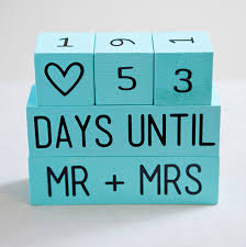 learn how to make your own wedding countdown blocks! wedding Wedding Countdown Photos how to make wedding countdown wood blocks wedding countdown images
