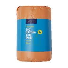 Kitchen Tidy Jburrows Kitchen Tidy Plastic Bags 50l Citrus Scent 50 Pack