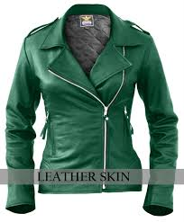 leather leather leather skin damen grün brando genuine leather jacket 346c34