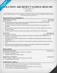 ... Solution Architect Resume 10 Solution Architect Resume  Resumecompanion.com ...