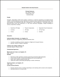 Example Resumes For College Students Delectable Resume Templates Resume Template For College Student 48 Unique
